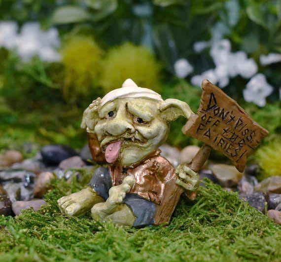 """Fiddlehead """"Don't piss off the fairies"""" Troll Sign"""