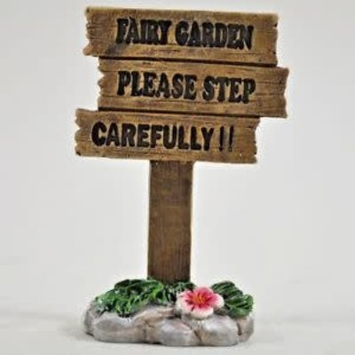 Fiesta Studios ' Fairy Garden Please Step Carefully' Sign