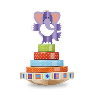 Melissa & Doug First Play - Elephant Rocking Stacker