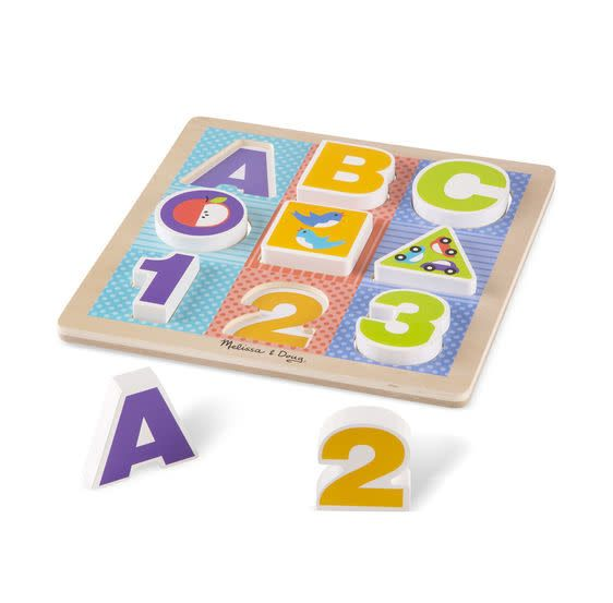 Melissa & Doug First Play - Chunky Puzzle - ABC 123