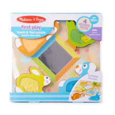 Melissa & Doug First Play - Touch and Feel Puzzle - Peek-a-boo pets