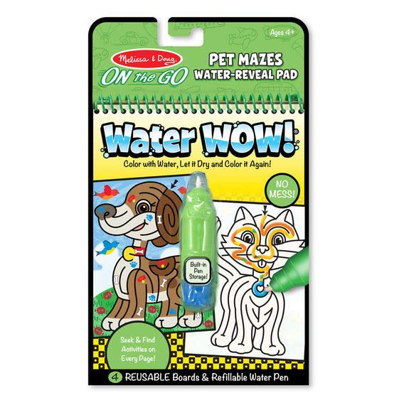 Melissa & Doug Water Wow - Pet Mazes - On the Go