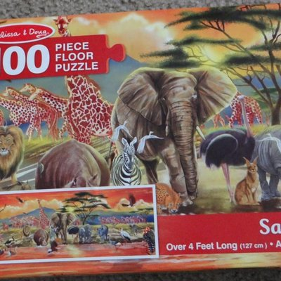 Melissa & Doug Floor Puzzle - Safari (100pcs)