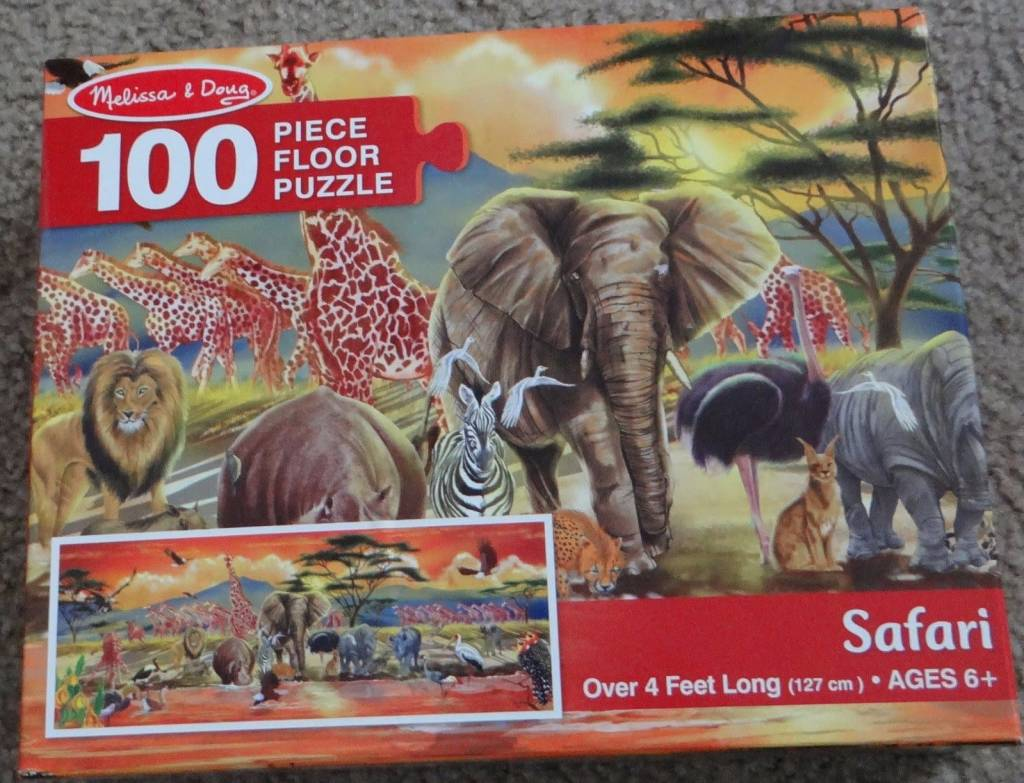 Melissa & Doug Floor Puzzle - Safari (100pcs)