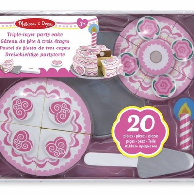 Melissa & Doug Wooden Triple-Layer Party Cake