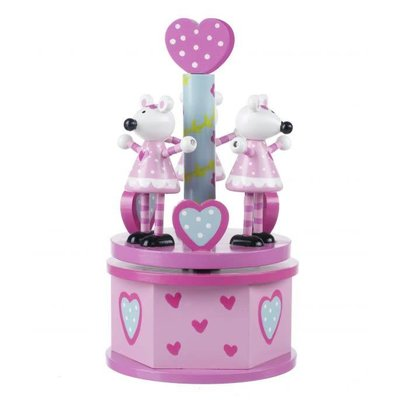 Orange Tree Toys Musical Carousel - Pink Mouse
