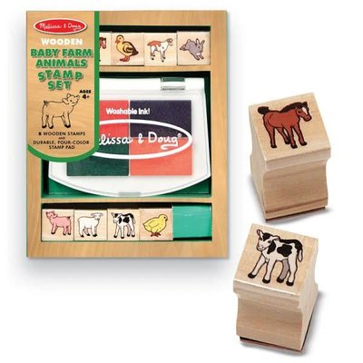 Melissa & Doug Stamp Set - Baby Farm Animals