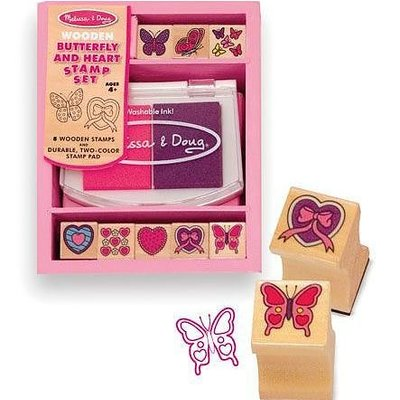 Melissa & Doug Stamp Set - Butterfly and Hearts