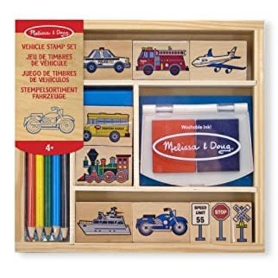 Melissa & Doug Stamp Set - Vehicle