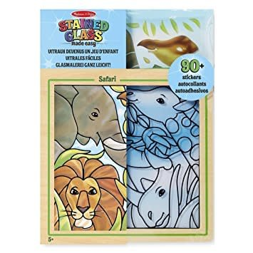 Melissa & Doug Stained Glass Made Easy - Safari