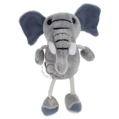 The Puppet Company Finger Puppet - Plush Elephant
