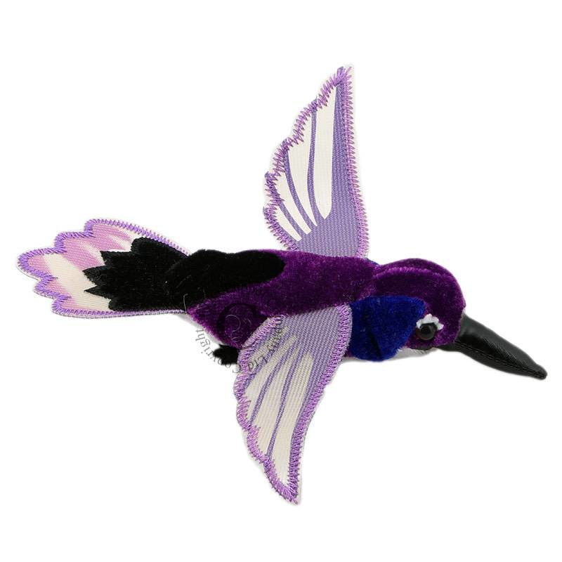 The Puppet Company Finger Puppet - Plush Hummingbird Purple