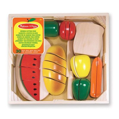 Melissa & Doug Wooden Cutting Food (With Wooden Knife)