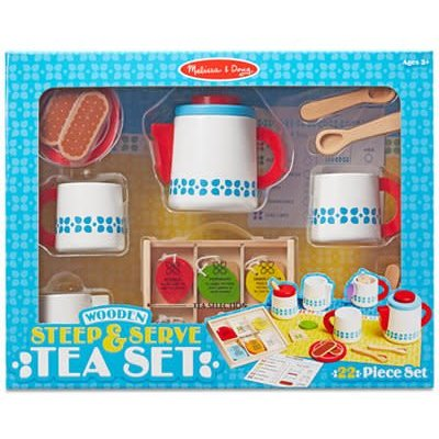 Melissa & Doug Tea Set (Wooden Steep and Serve Tea Set)