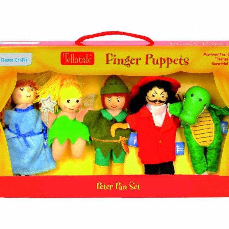 Fiesta Crafts Finger Puppet Set - Peter Pan