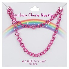 Equilibrium Rainbow Charm Necklace - Pink