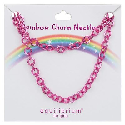 Equilibrium Rainbow Charm Necklace - Pink