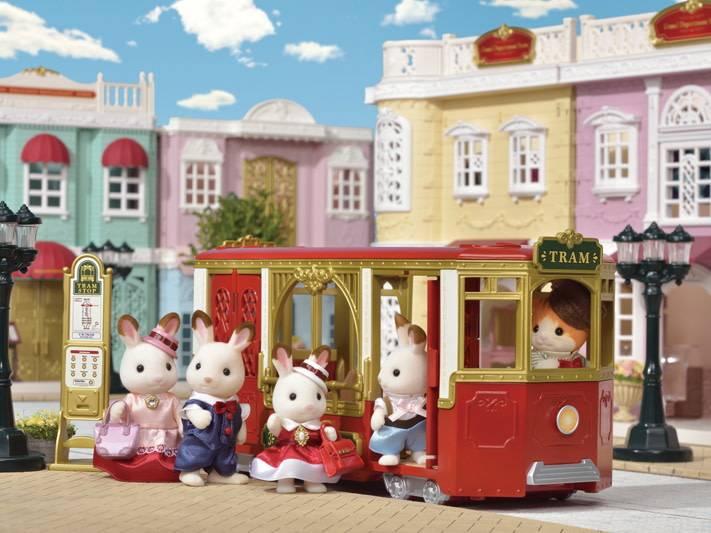 Sylvanian Families Sylvanian Town - Ride Along Tram