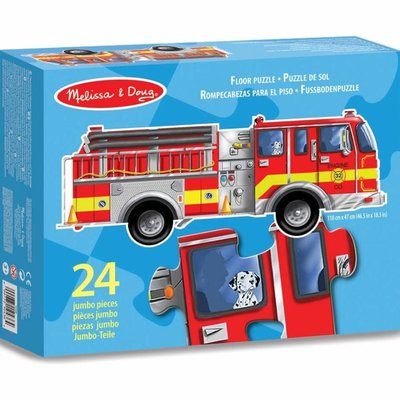 Melissa & Doug Floor Puzzle - Giant Fire Engine (24pcs)