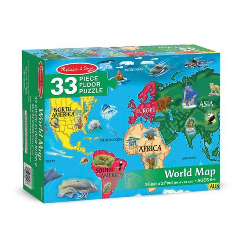 Melissa & Doug Floor Puzzle - World Map (33pcs)