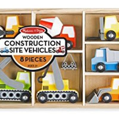 Melissa & Doug Wooden Construction Vehicles
