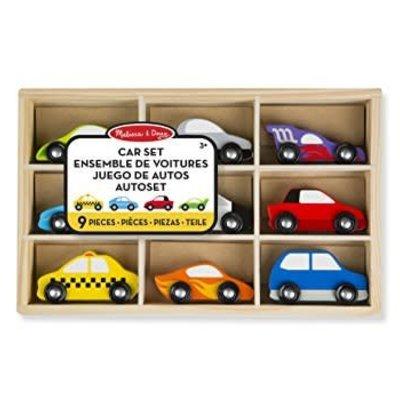 Melissa & Doug Wooden Car Set