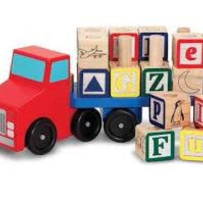 Melissa & Doug Wooden Alphabet Blocks Truck