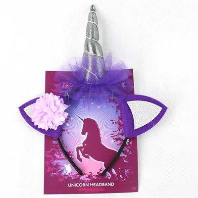 Fairy Goodies Unicorn Headband - Black & Purple