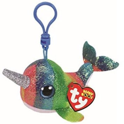 Ty Ty Key Clip - Nori the Narwhal