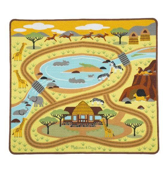 Melissa & Doug Safari Rug with 4 play figures