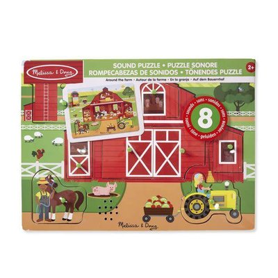 Melissa & Doug Sound Peg Puzzle - Around the Farm