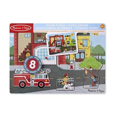 Melissa & Doug Sound Peg Puzzle - Around the Fire Station