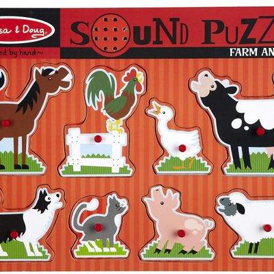 Melissa & Doug Sound Peg Puzzle - Farm