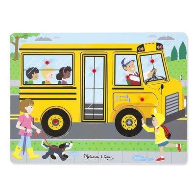 Melissa & Doug Sound Peg Puzzle - The Wheels on the Bus
