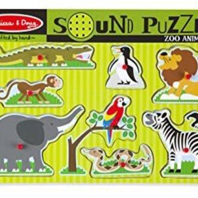 Melissa & Doug Sound Peg Puzzle - Zoo Animals