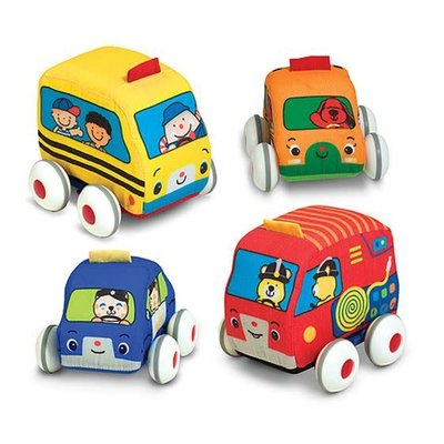 K's Kids Pull-Back Soft Town Vehicles