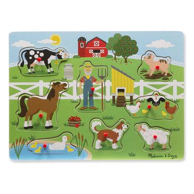 Melissa & Doug Sound Peg Puzzle - Old MacDonald's Farm