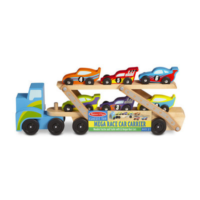 Melissa & Doug Jumbo Race Car Carrier
