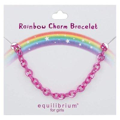 Equilibrium Rainbow Charm Bracelet - Pink