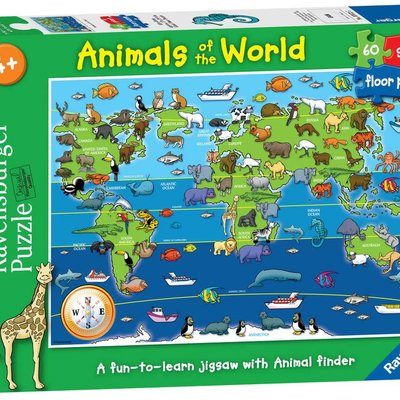 Ravensburger Floor Puzzle - Animals of the World 60pcs