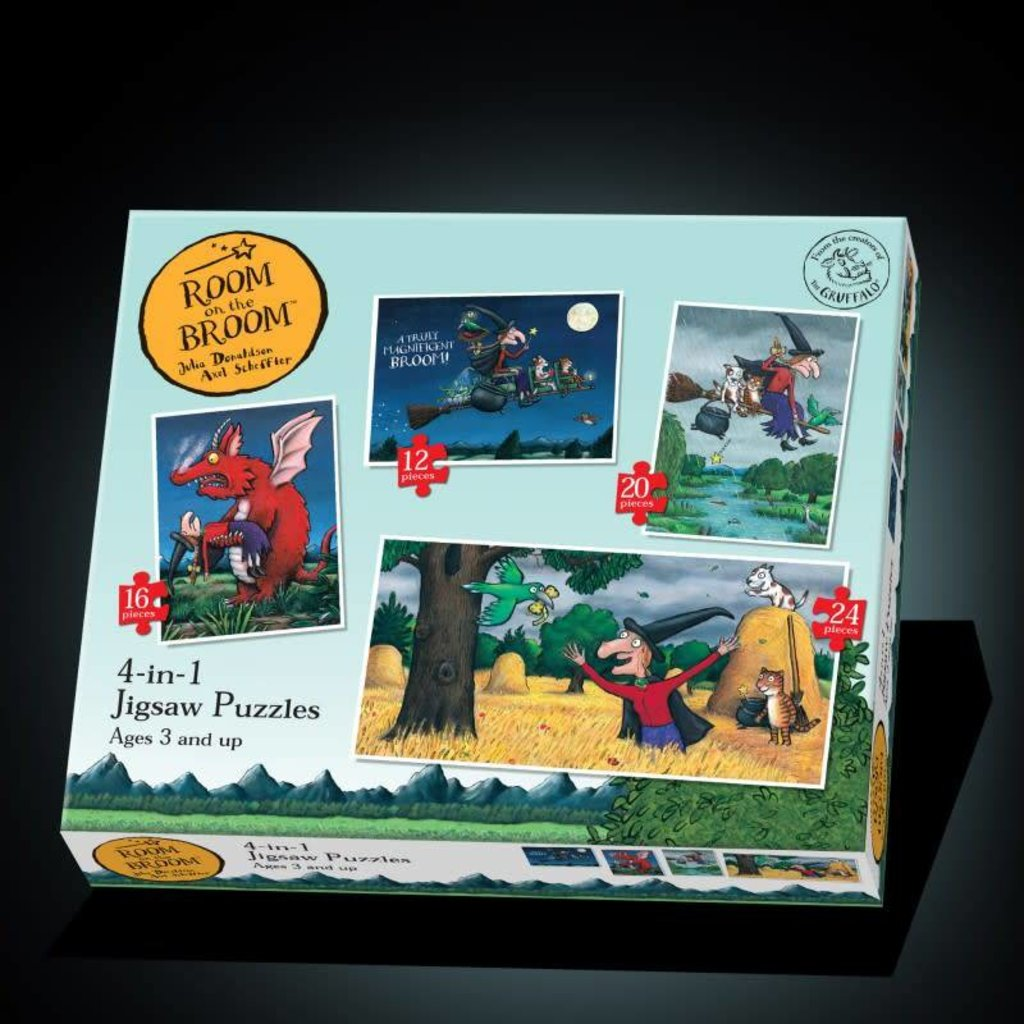 Paul Lamond Games Room on the Broom 4 in 1 Puzzles