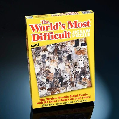 Paul Lamond Games 529pcs - Cats - The World's Most Difficult Puzzle