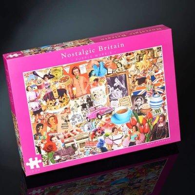 Paul Lamond Games 1000pcs - Nostalgic Britain - Purple Morris Puzzles