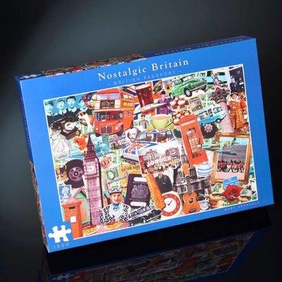 Paul Lamond Games 1000pcs - Nostalgic Britain - British Passport Puzzle