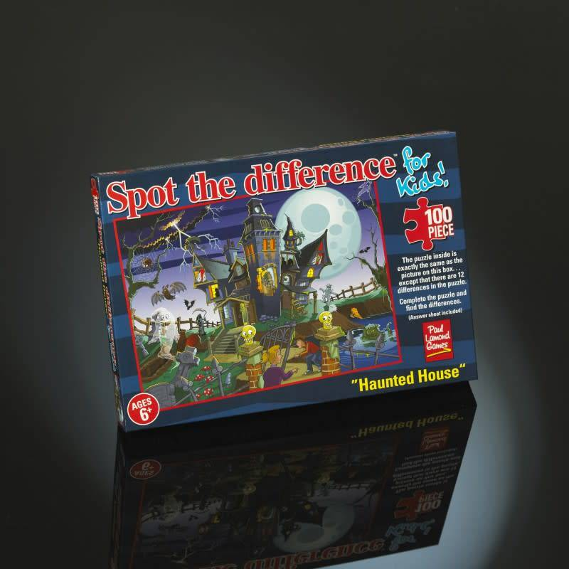 Paul Lamond Games 100pcs - Haunted House Puzzle - Spot the Difference