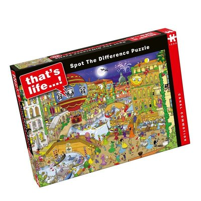 Paul Lamond Games 1000pcs - That's Life Spot the Difference - Canal Commotion Puzzle