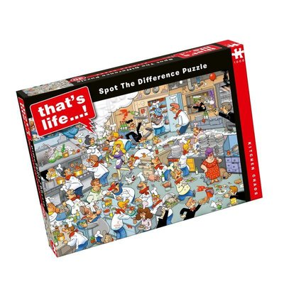 Paul Lamond Games 1000pcs - That's Life Spot the Difference - Kitchen Chaos Puzzle