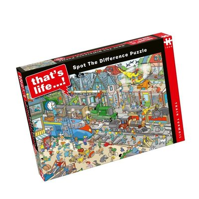 Paul Lamond Games 1000pcs - That's Life Spot the Difference - Train Turmoil Puzzle