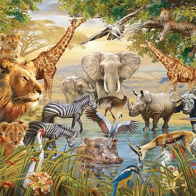 Ravensburger Majestic Watering Hole Puzzle 500pcs
