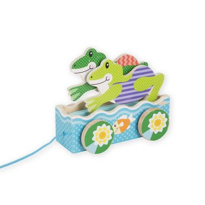 Melissa & Doug First Play - Friendly Frogs Pull Along